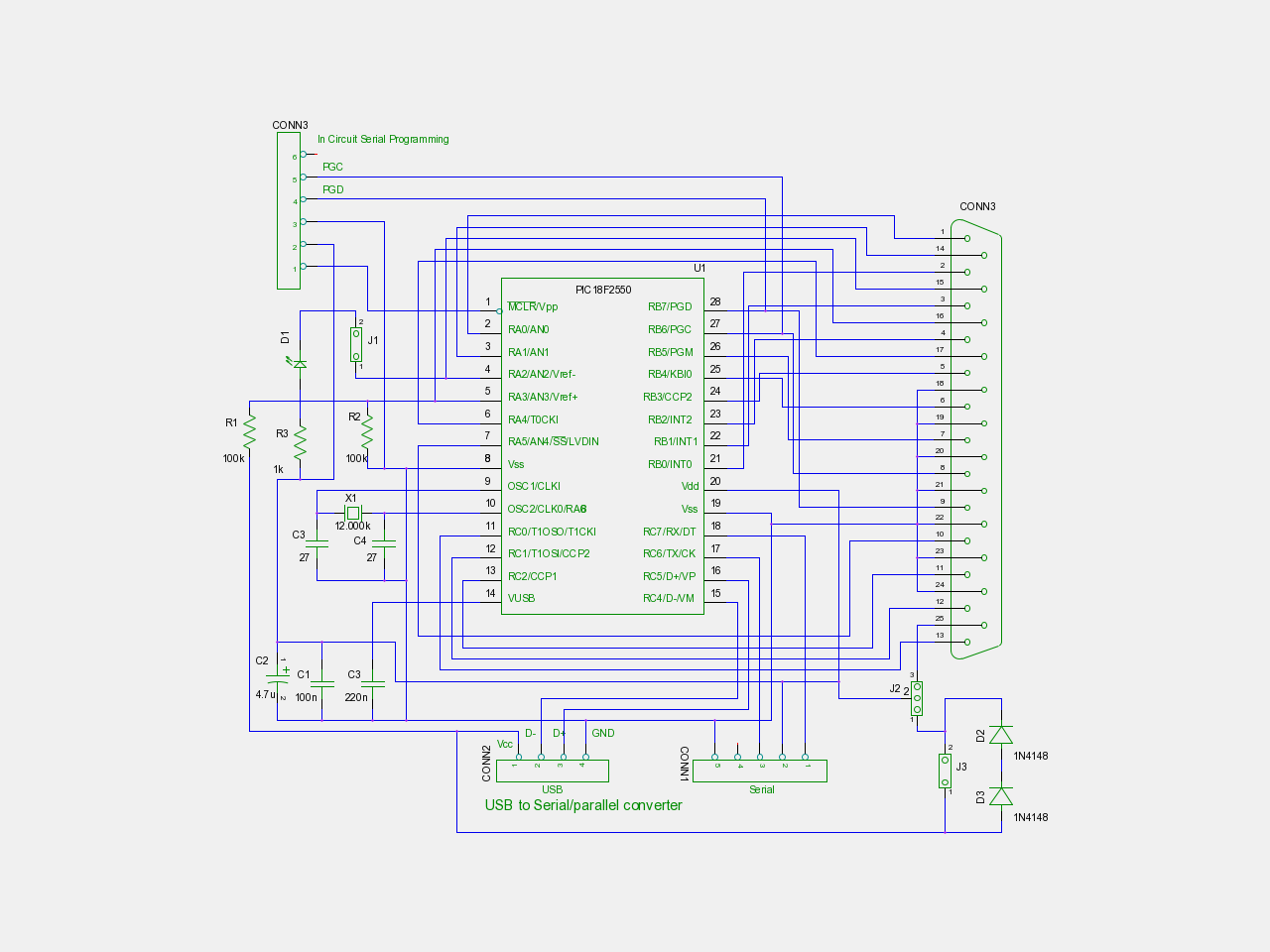 Usb To Serial Converter Using Pic Find Programmer Schematic Diagram
